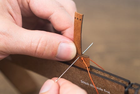 Top Band - Stitching the First Seam