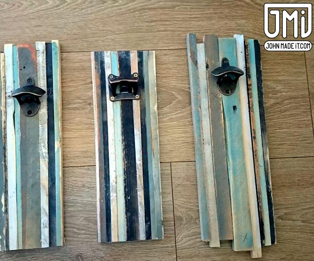 Rustic Wall Bottle Opener From Scrap Wood