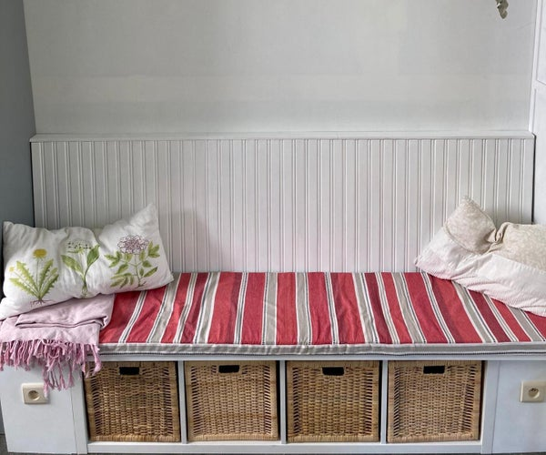 IKEA HACK   $40 Kallax Shelf Becomes Upscale Bench Seating   DIY Build.