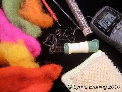 Needle Felting Conductive Fabric