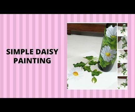 SIMPLE DAISY PAINTING