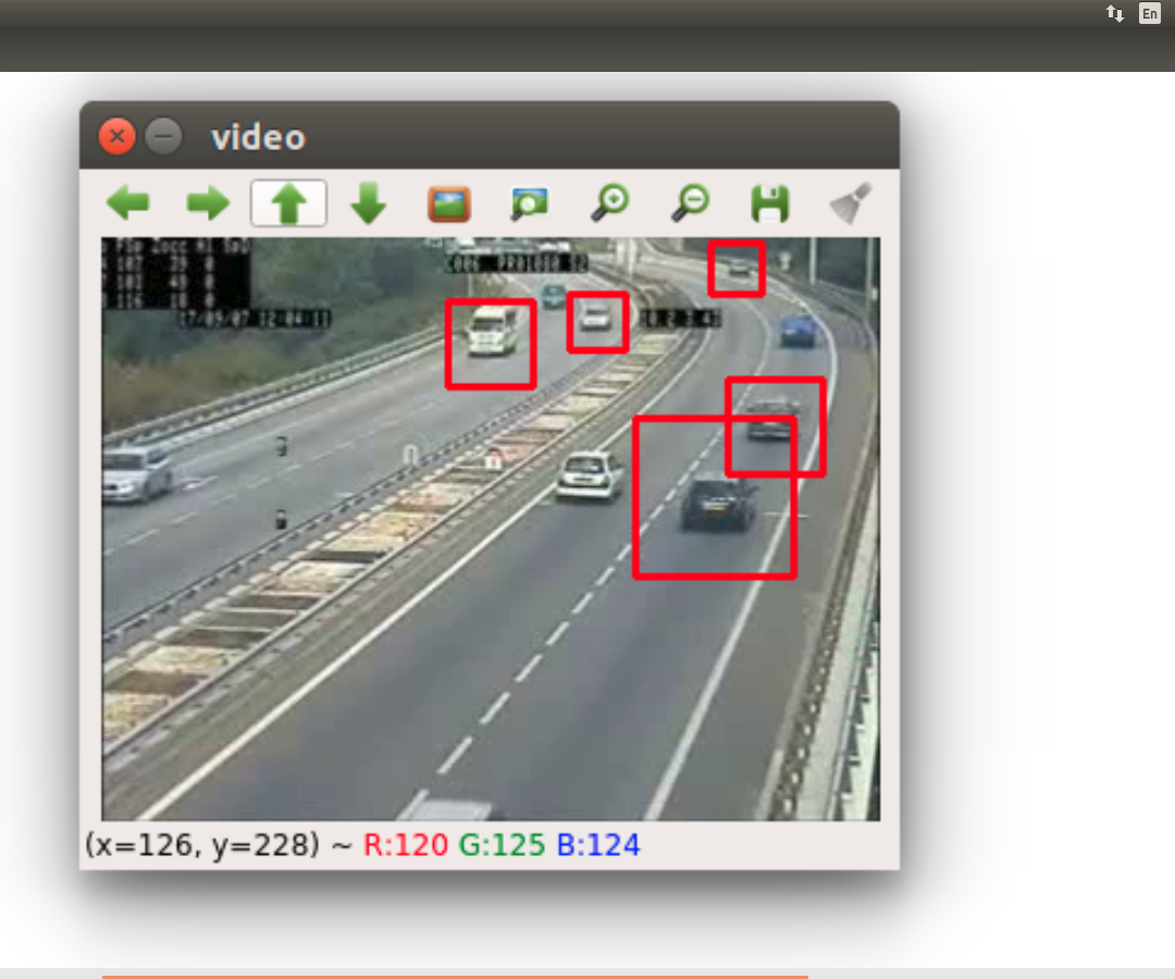 Traffic Counting System Based on OpenCV and Python