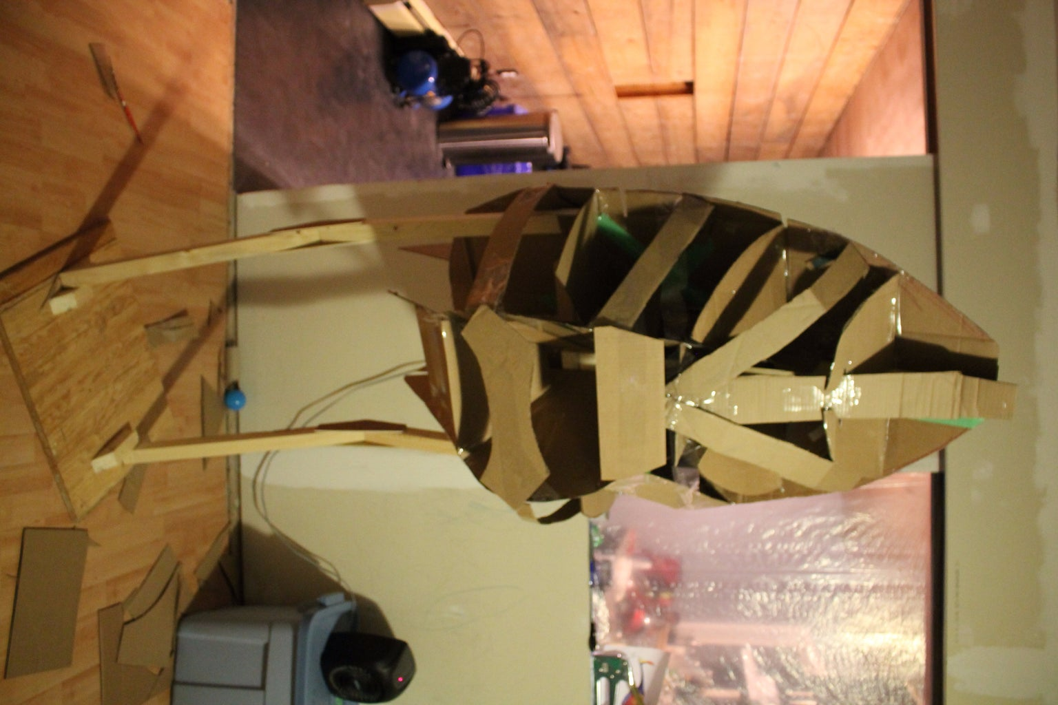 Forming the Body With Cardboard