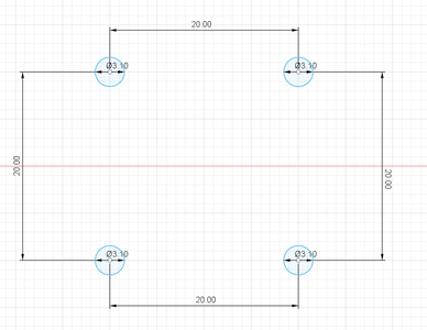 Design Process - Moving Load Cell Mount - MGN12H Mounting Holes
