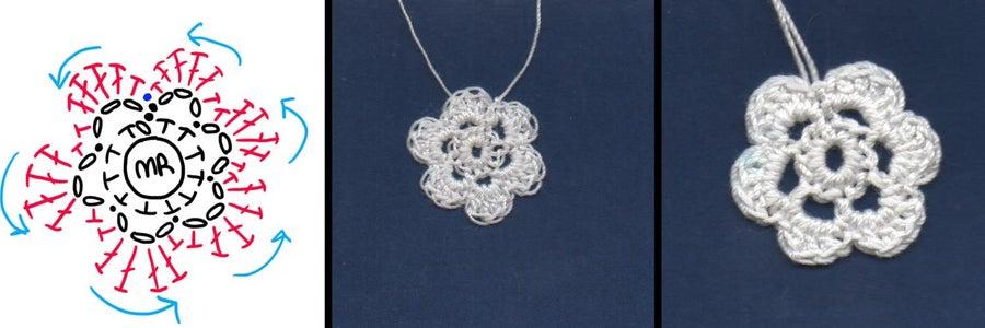 Step 3) Crocheting an Irish Rose (Crochet)