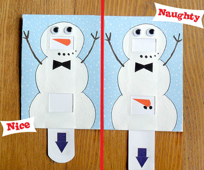 Naughty or Nice Snowman Card