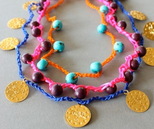 DIY Crocheted Necklace an Bracelets With Perls