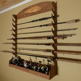Diy Fishing Rod Storage Rack Wallmounted 15 Steps With Pictures Instructables