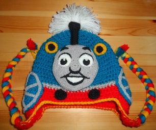 Tank Engine Crochet Hat
