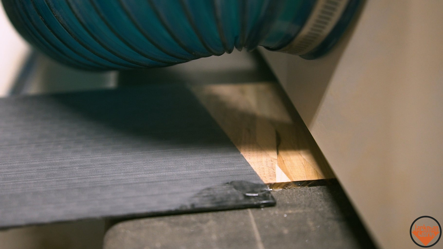 Epoxying the Carbon Fiber to the Pallet Wood