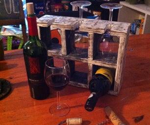 Simple Wine Rack From Pallet Wood