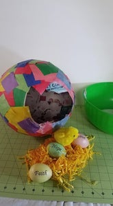 Allow 1 Day for Glue to Dry Then Deflate Balloon  (PARENTS ONLY FOR SURPRISE EFFECT)