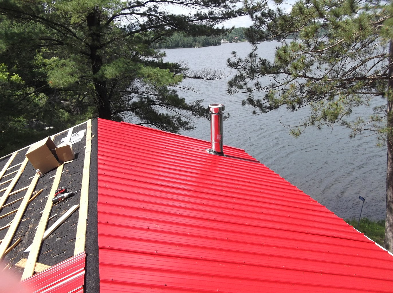 Drip Cap and Metal Roof