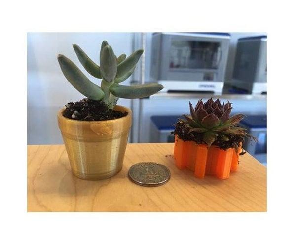 Mini Plant Pot - Designed for 3D Printing