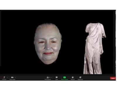 Floating Head of Aphrodite Halloween Zoom Costume