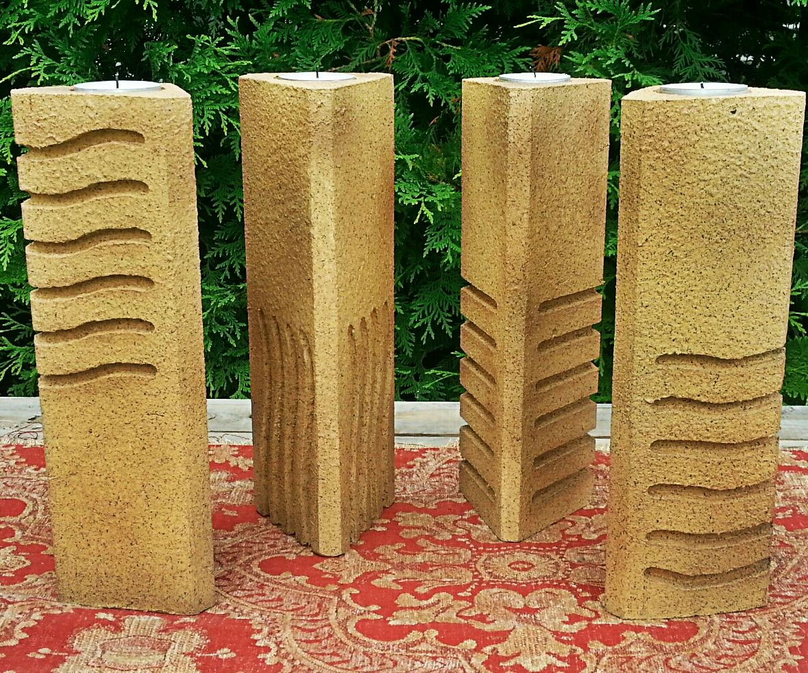 The Fifth Element Stones Pillar Candle Holders 13 Steps With Pictures Instructables