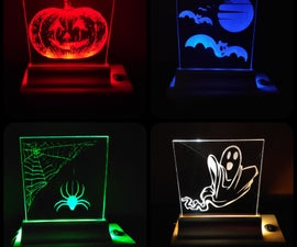 Laser Engraved Halloween Lamp (simple and Cheap!)
