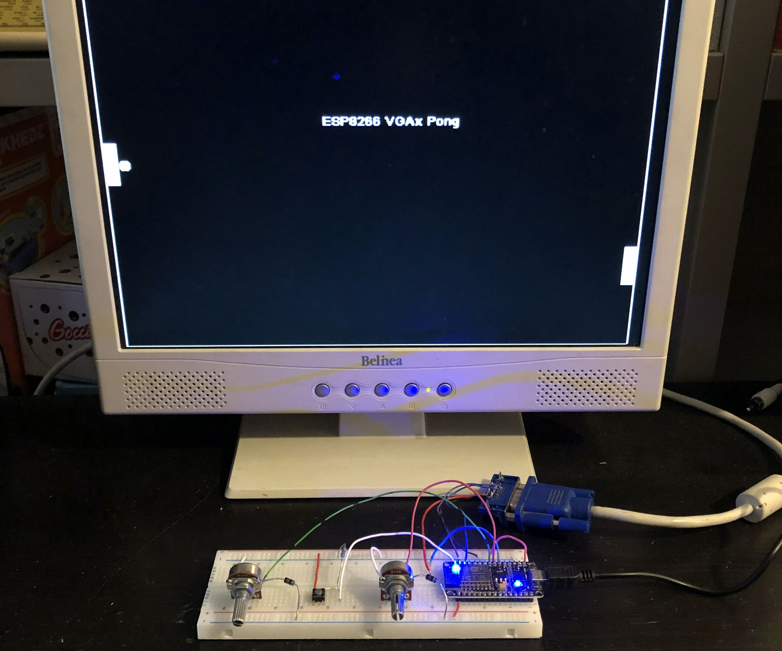 ESP8266 VGA Pong