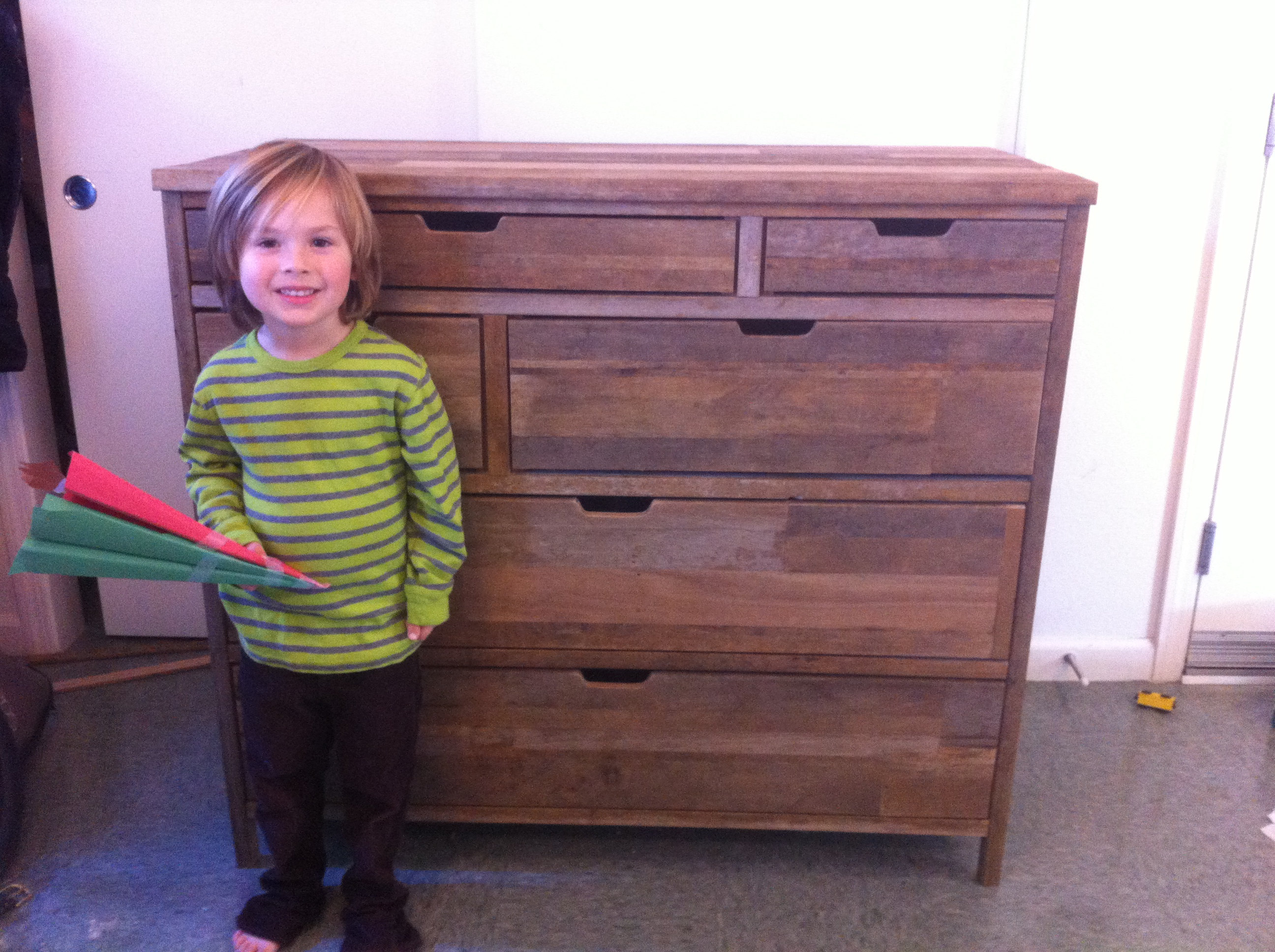 Reclaimed 6 drawer Dresser (TECHSHOP BUILT)!!