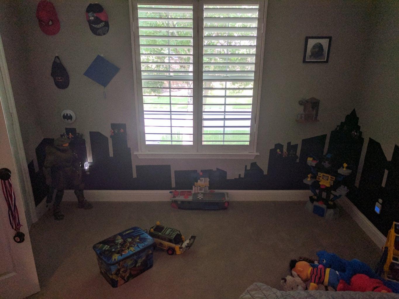 Super Hero City Kid Room