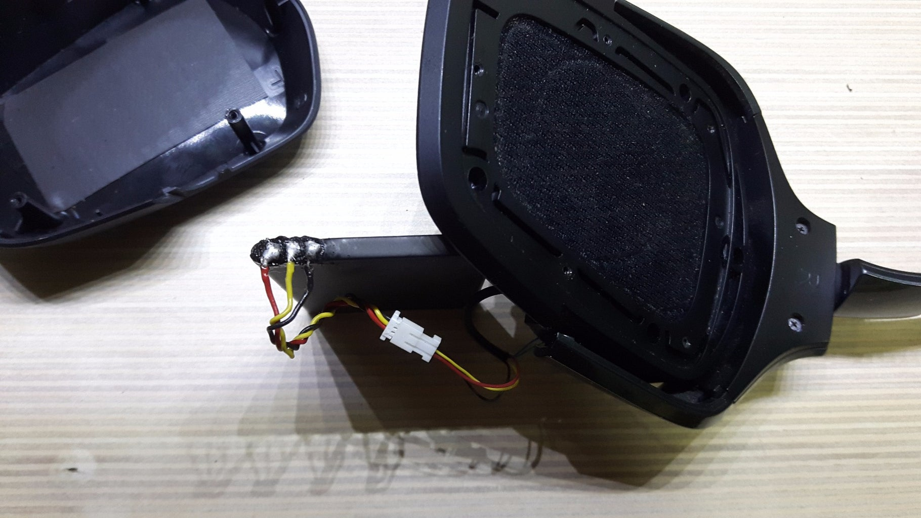 Find a 3.7v Battery Lying Around, and Solder the Wires on the Contacts.