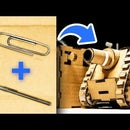 How to Make RC Tank With Cardboard, Pens and Paperclips