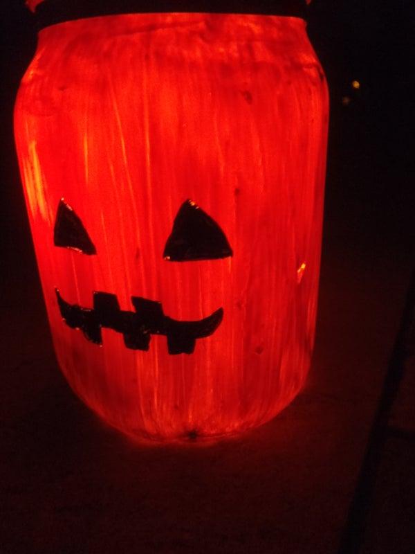 Halloween Jack-O-Lantern Candle Holder