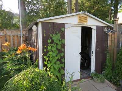 Cleanout the Shed, Remove the Doors, and Reinforce the Doorframe
