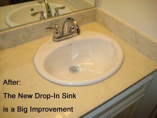 Sink In A Cultured Marble Countertop, Replacing Bathroom Countertops