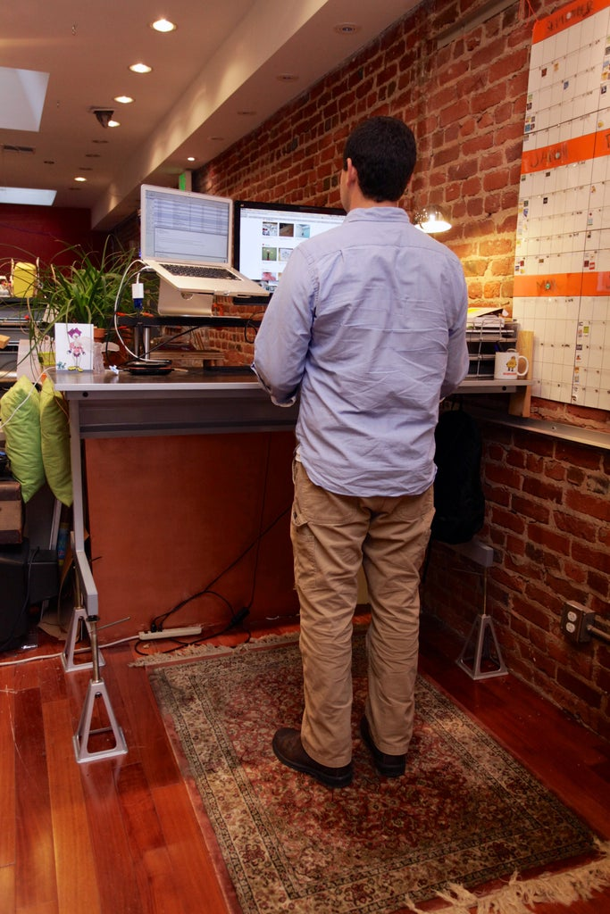 $38 Adjustable Standing Desk Conversion