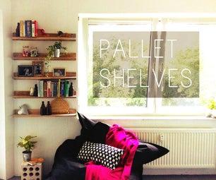 SIMPLE PALLET SHELVES