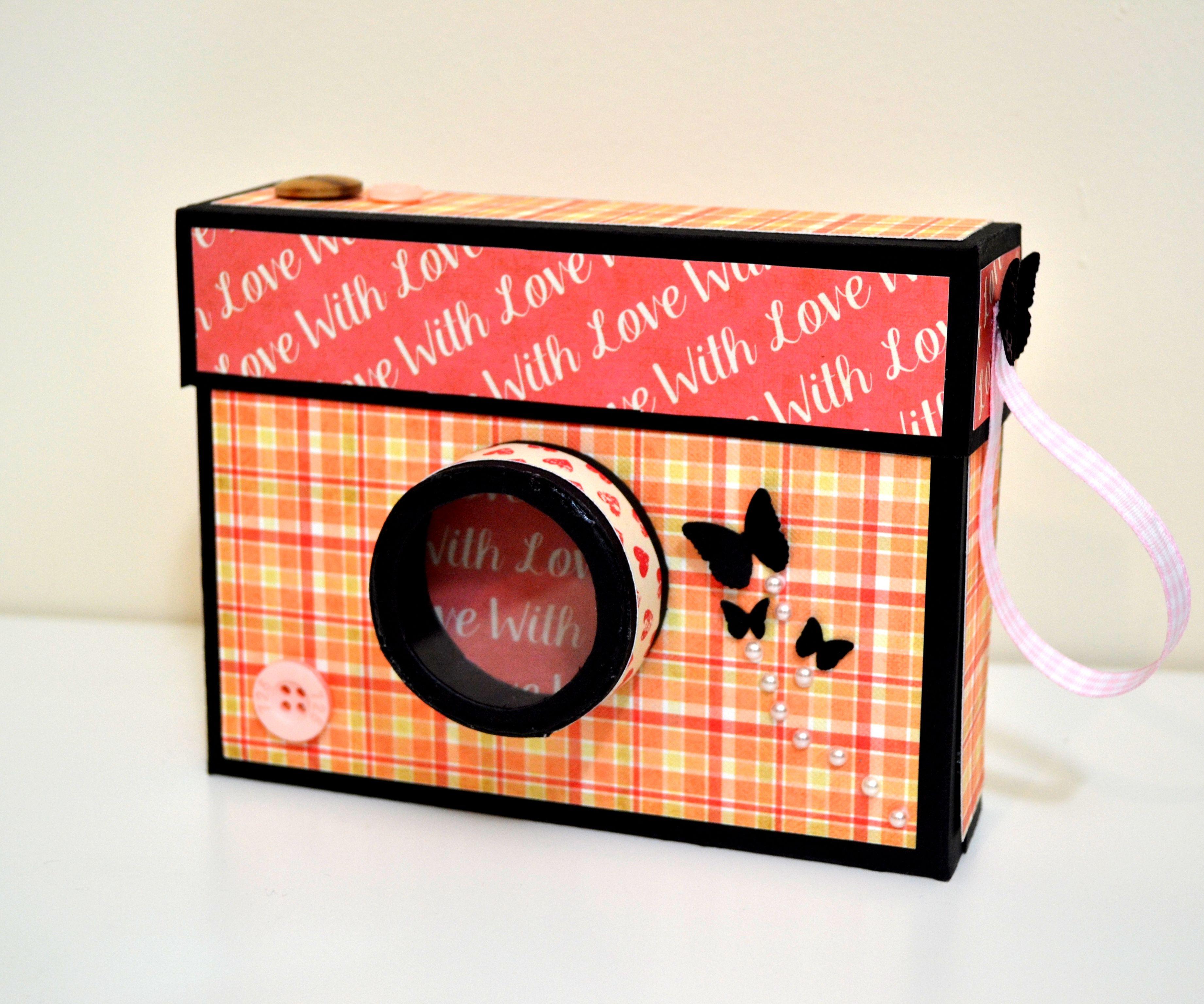 DIY Crafts - How to Make Camera Box Photo Album - Valentine's Day Gift Idea