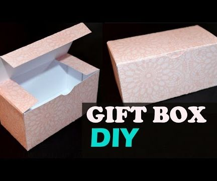 How to Make a Gift Box - DIY Paper Box