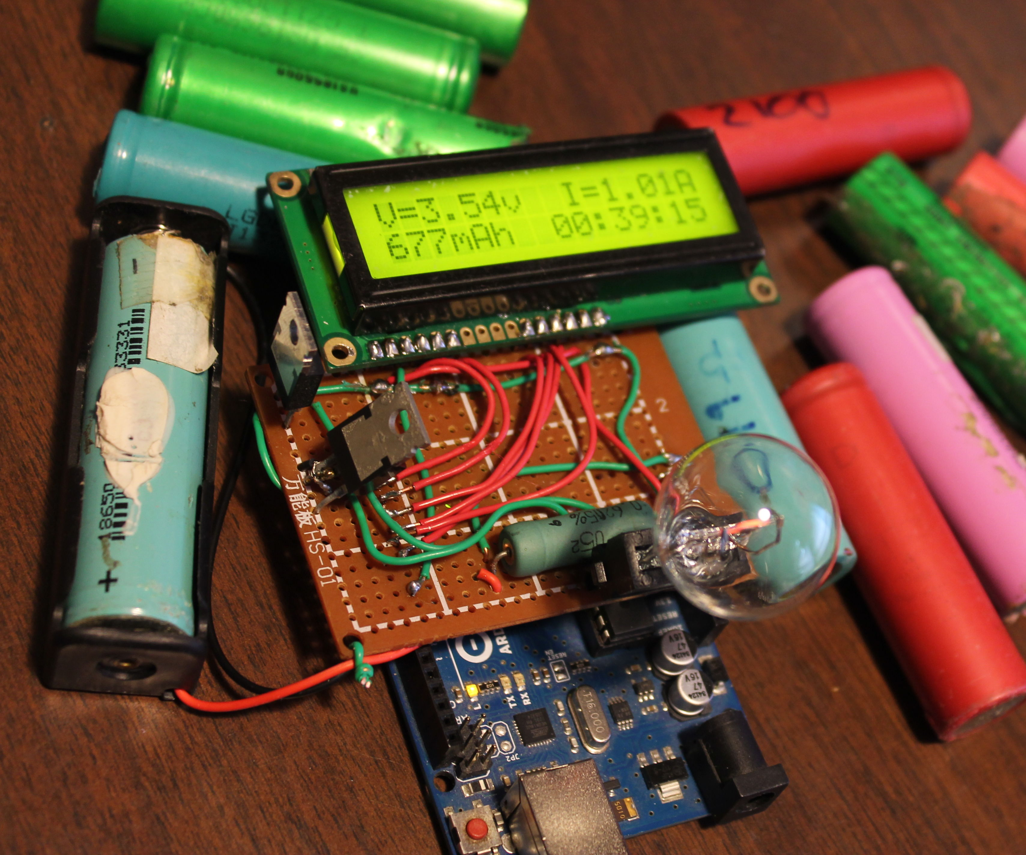 Reboot: Measure Li-ion cell capacity with an arduino