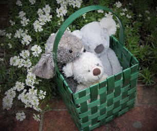 Fantastic Plastic Basket - Woven With Polyester Straps