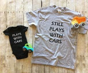 DIY Screen Printing Father & Son Matching T-Shirts