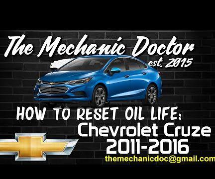 How to reset oil life: Chevrolet Cruze 2011-2016.