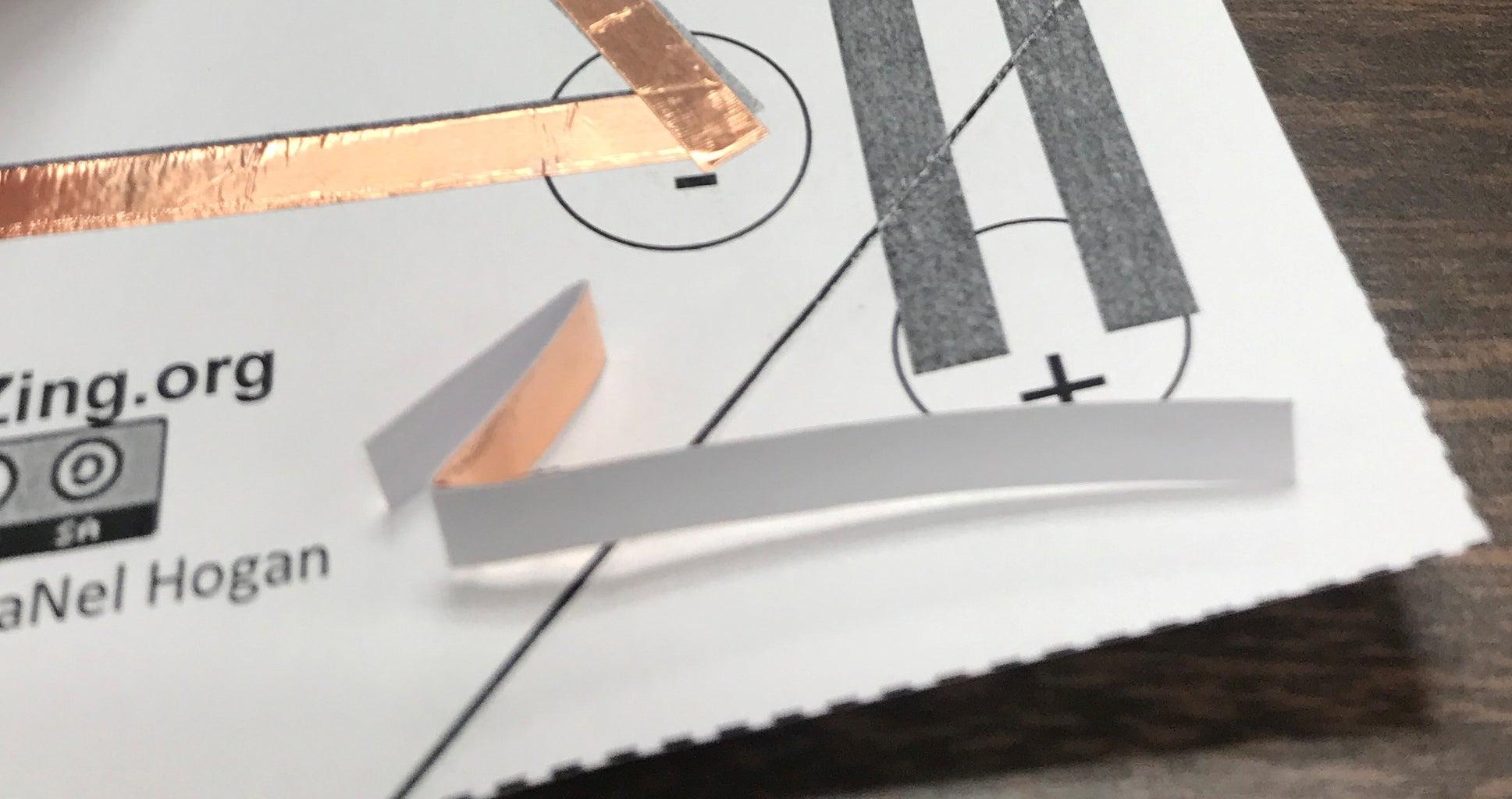 Making a Copper Foil Tape Switch.
