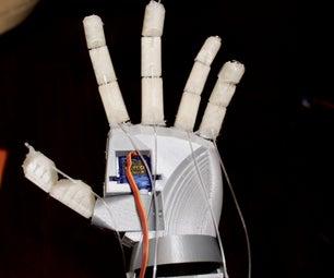 3D打印的机器人手用蓝牙控制