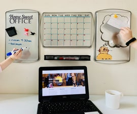 Quick and Easy Magnetic Dry-Erase Board