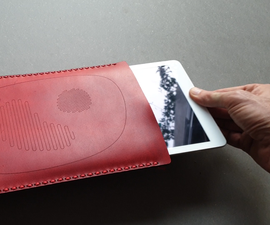 Simplest Lasercut Leather IPad Sleeve, No Needle Needed !