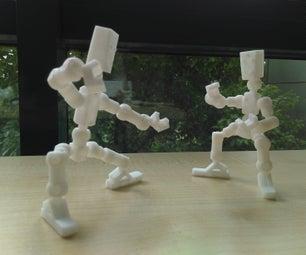 一体3D打印骨骼机器人
