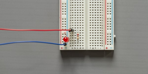 Connect LED and Resistor to Breadboard
