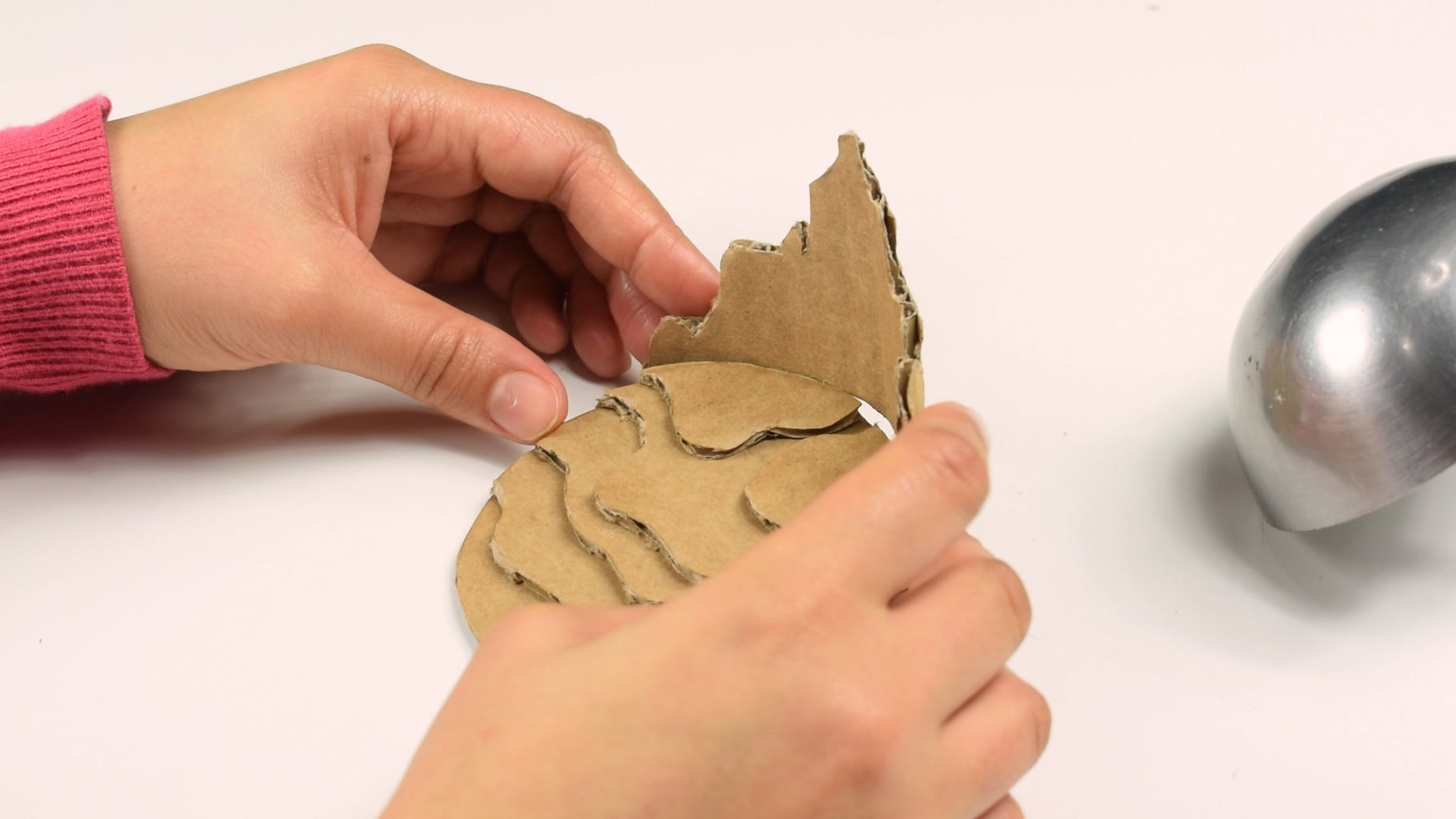 Making the Mountain and Foothill With Cardboard