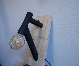 Upcycled Bike Frame Wall Light