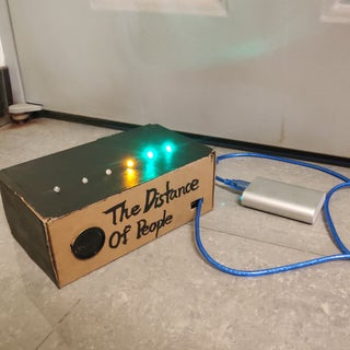 Arduino Distance Detector With a Buzzer and LED's