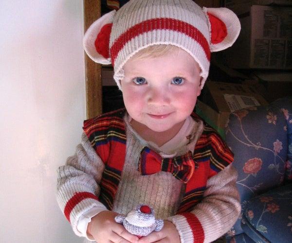 Sock Monkey Costume for Toddler