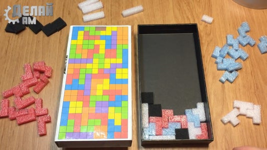 Video With the Process of Making a Puzzle.