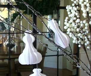 Architectural Inspired Molding Paper Ornaments