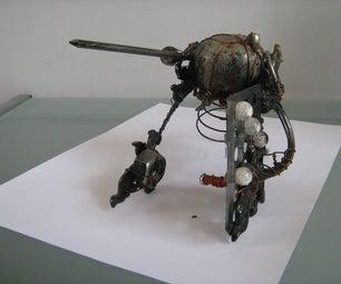 """""""Knight"""" Steampunk Object Art Custom Figure"""